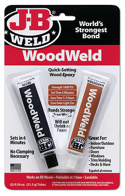 JB Weld 8251 WoodWeld Epoxy Tube 2oz.