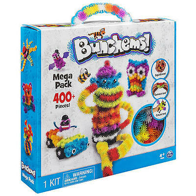 Bunchems Mega Pack 400 Pieces Kit Children Toy Gift Kids Pets Bugs Creation Ball