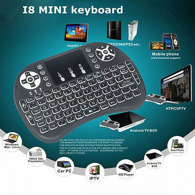 Backlight LED Wireless Keyboard 2.4GHZ TouchPad Air Mouse For PC Android TV BOX