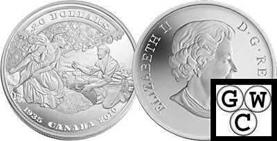 2010 Prf $20 75th Anniv of the First Bankote .9999 Fine Silver Coin (12677)