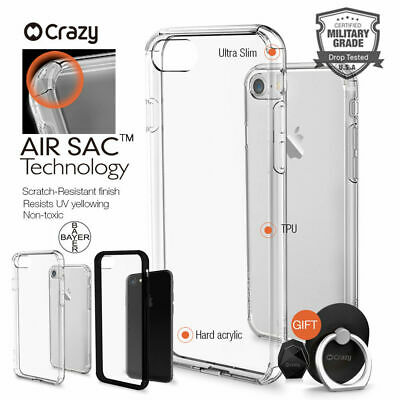 Crazy shockproof Cover Clear Hybrid Case for iPhone 7 8 Plus X XS MAX XR Holder