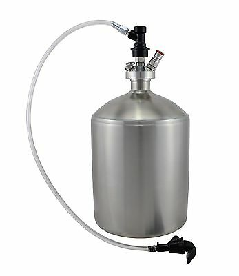 5L Mini Keg with Double Ball Lock Dispense Spear Tap and Beer Dispenser Line
