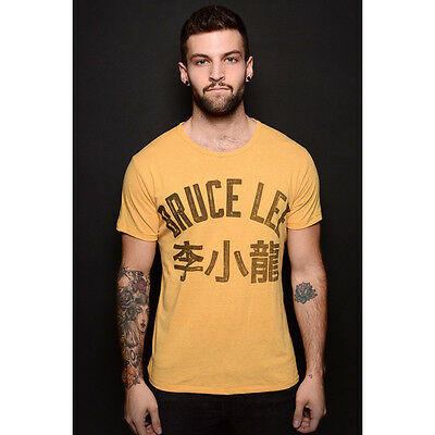 Roots of Fight Bruce Lee Dragon Average Fit T-Shirt - Yellow
