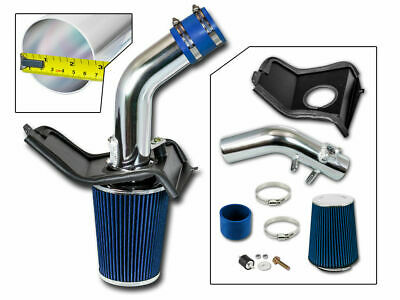 BCP BLUE For Subaru 08-14 WRX/STi 2.5L Turbo Cold Air Intake +Heat Shield