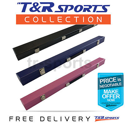 "1 Cue Box Case for Pool Snooker Billiard  2-Piece 57"" Cue Free Delivery"