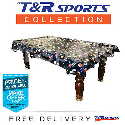 Pool Snooker Billiard Table Cover Classic Pattern Ball Free Delivery Waterproof
