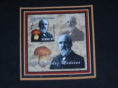 Stamp Pickers Mozambique 2002 Imperf Alexander Fleming MNH S/S