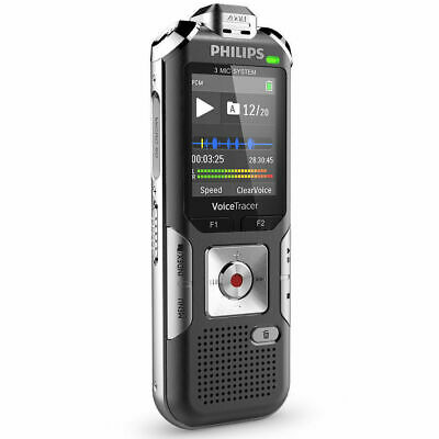 Philips DVT6010 8GB Voice Tracer Digital Recorder 3 Mic Stereo/Lecture/Interview