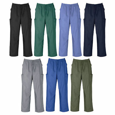 Unisex Classic Scrubs Cargo Pants Men Nurse Women Medical Dental Vet - Fb H10610