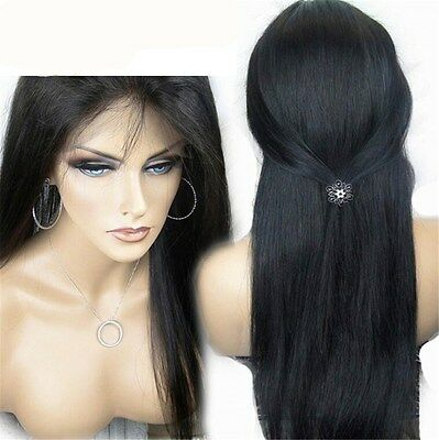 Women's Long Synthetic Lace Front Wig Hair Black Wigs Heat Resistant Hair Wig