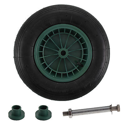 """Wheelbarrow Spare Wheel And Inflatable Tyre With Fittings 14"""""""" Fits Most"""