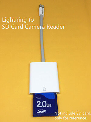 Lightning to SD Card Camera Reader Adapter for iPad iPhone
