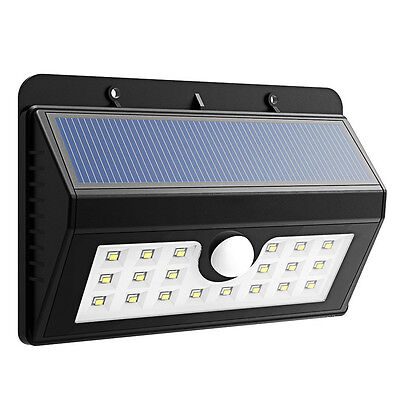 20LED Waterproof Solar Power PIR Motion Sensor Wall Security Light Lamp Garden