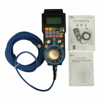 CNC Mach3 Handwheel 4 Axis Wired USB MPG Controller Electronic Manual Pendant 5M