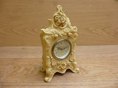 Antique Vintage Record Rasin Wind up Mantle Clock