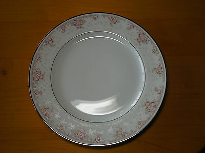 "Royal Prestige Japan CHELSEA 4212 Set of 3 Dinner Plates 10 7/8"" Pink Blue"
