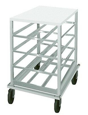 Advance Tabco Can Low Profile Mobile Design w/ Poly Top Rack Model CRPL10-72