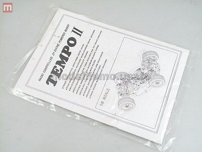 SinYih Tempo II Manuale Vintage Buggy Instruction Manual modellismo
