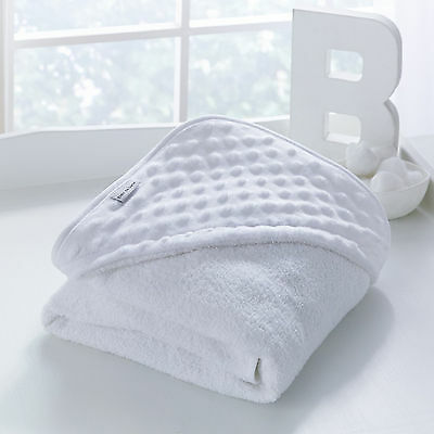New Clair De Lune Dimple White Luxury Baby Soft Unisex Hooded Bath Time Towel