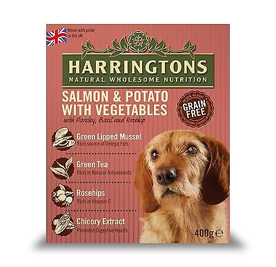 HARRINGTONS WET SALMON 8 X 400GM 400g Harringtons Wet Salmon