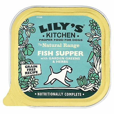 Lily's Kitchen Fish Supper with Garden Greens and Herbs Complete Wet Food for...