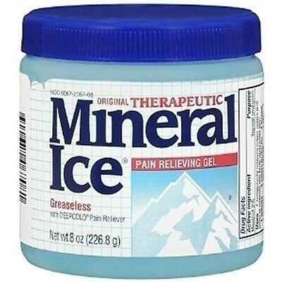 Mineral Ice Topical Analgesic Pain Reliving Gel 8oz