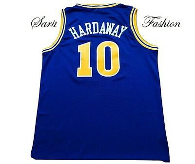 Tim Hardaway Retro Warriors  Basketball Jersey #10 Stitched Throwback Blue