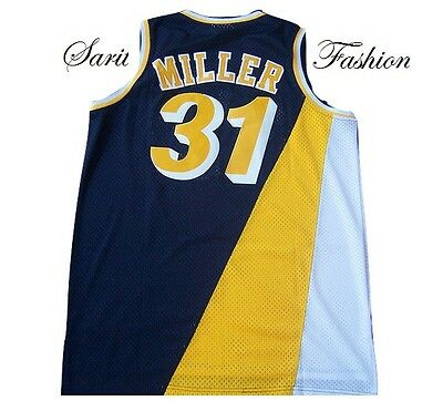 Reggie Miller Retro Indiana Pacers Basketball Jersey Retro Stitched Throwback