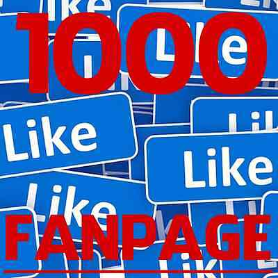 Buy 1000 Facebook Like for FAN PAGE - SUPER FAST - CHEAPEST ON EBAY