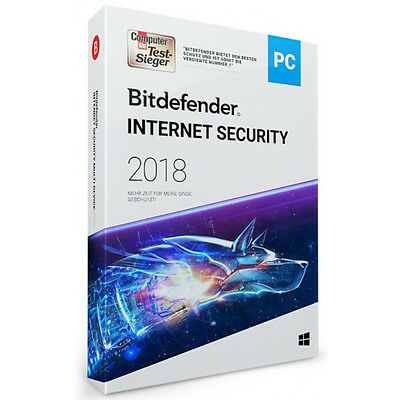 Bitdefender Internet Security 2018 | 1, 3, 5, 10 PC | 1, 2, 3 Jahre | inkl. VPN