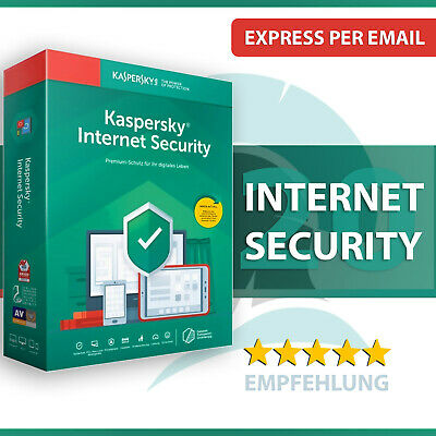 Kaspersky Internet Security 2020 - alle Versionen - 1 oder 2 Jahre - Download