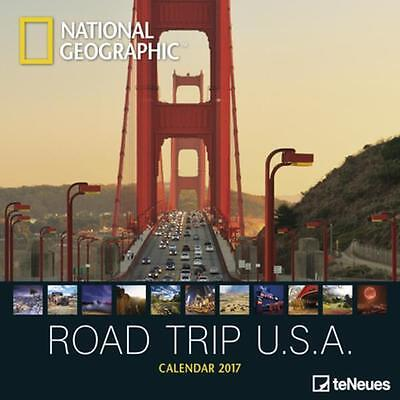 CALENDRIER 2017 - NATIONAL GEOGRAPHIC ROAD TRIP USA - 30 x 30 cm