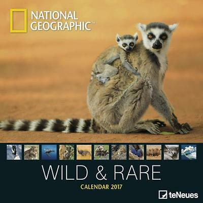 CALENDRIER 2017 - NATIONAL GEOGRAPHIC WILD & RARE - 30 x 30 cm