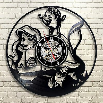Little Mermaid Disney_Exclusive wall clock made of vinyl record_GIFT