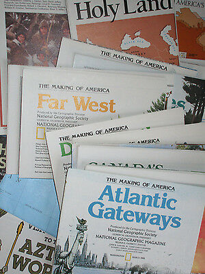 Lot of 50 National Geographic Maps .. Assorted Maps A to Z