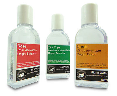 50ml - Floral Water - Pure Aromatherapy Essential Hydrosol & Hydrolat (11 Types)
