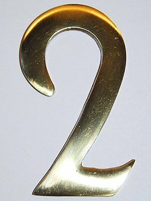"3"" Inch Williamsburg Brass Mailbox Number #2"