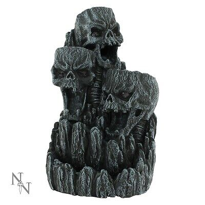 Nemesis Now Skull Mountain Backflow Incense Tower Burner + 1 x box of cones
