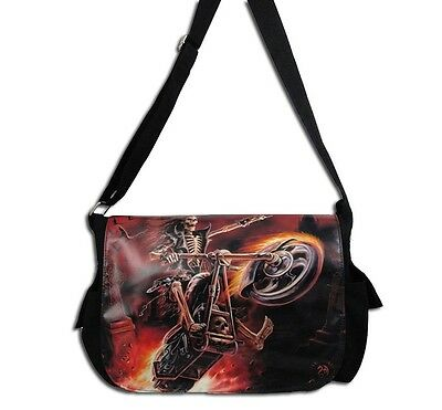 "Anne Stokes Messenger Bag: ""Hell Rider"" Gothic Angel"