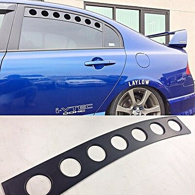 Top1 Motors Rear Window Vents 2007-2011 Honda Civic Sedan Fa5 Si