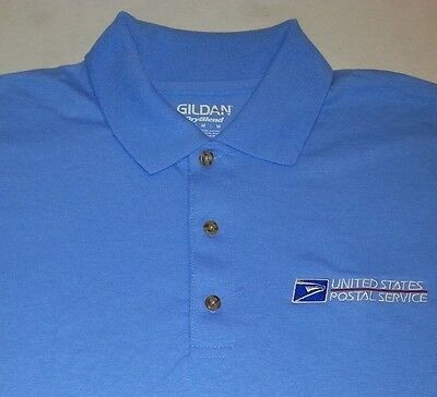 USPS Embroidered Polo Shirt S-3XL Carolina Blue  50/50 USPS2 SHIRT