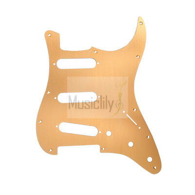 Gold Anodized Alu 11 Holes SSS Pickguard Plate For Fender Strat Electric Guitar