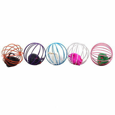 Fun Gift Play Playing Toys False Mouse in Rat Cage Ball For Pet Cat Kitten NEW H