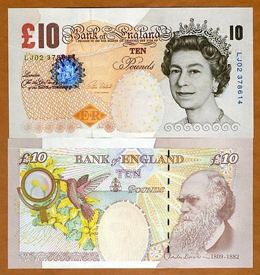 Great Britain, 10 pounds, 2000 (2015), P-389e, QEII, UNC   Darwin