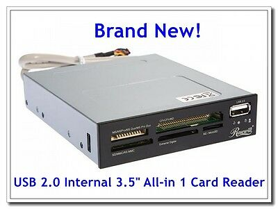Rosewill 74-In-1 Internal Card Reader With Usb 2.0 Port & Extra Silver Plate New