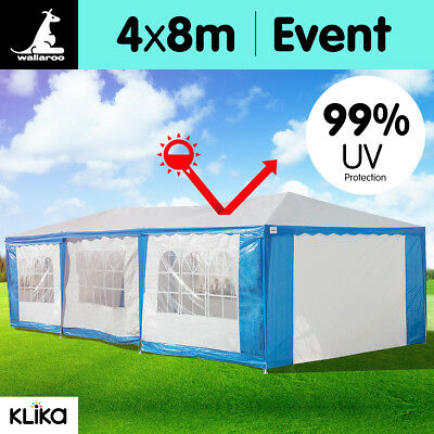 Wallaro Large 4x8 Gazebo Party Wedding Tent Outdoor Event Marquee Canopy