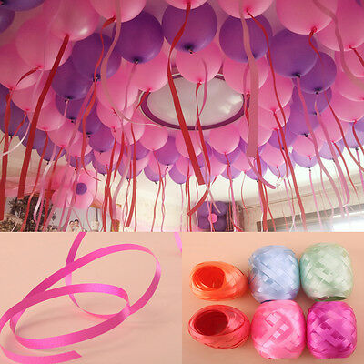 6X Colorful Curling Balloon Ribbon Wedding Birthday Party DIY Crafts Gift Wrap