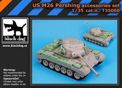 BLACK DOG SET ACCESSORI IN RESINA PER US M26 PERSHING Scala 1:35 cod.T35060