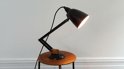 Iconic Vintage early Conran Maclamp for Habitat, w/wrapped wooden arms. 1950s