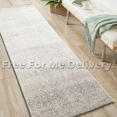 SULIS ALLOVER SILVER GREY TRADITIONAL RUG RUNNER (XL) 80x500cm **FREE DELIVERY**